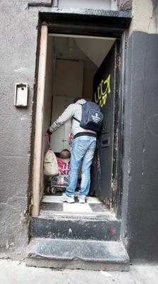 A resident entering 3 Kellys Row at the rear of The flats at 20 Lr. Dorset St. Dublin City Council sought an evacuation order in respect of the building.