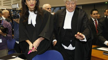 Ms Clooney stood before Europe's top human rights court to represent Armenia