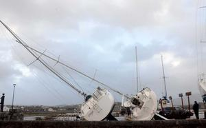Storm Eleanor left a wake of destruction behind her as she passed through The Quays in Westport where she tossed yacht's from their moorings  (Photo: Paul Mealy)