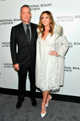 Tom Hanks (L) and Rita Wilson attends the 2018 The National Board Of Review Annual Awards Gala at Cipriani 42nd Street on January 9, 2018 in New York City.  (Photo by Mike Coppola/Getty Images)