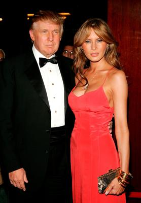 "Donald Trump and wife Melania Trump arrive for Time Magazine Celebrates New ""Time 100"" list of Most Influential People In The World on April 19, 2005 in New York City. (Photo by Paul Hawthorne/Getty Images)"