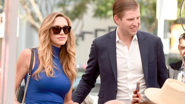 Eric Trump (R) and his wife Lara appear at the star dedication ceremony for radio personality Elvis Duran on the Hollywood Walk of Fame on March 2, 2017 in Los Angeles, California.  (Photo by Kevin Winter/Getty Images)