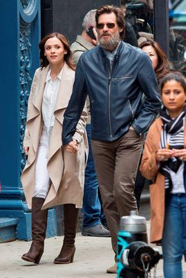 Jim Carrey spotted out with Irish girlfriend Cathriona White in New York City. Picture: FameFlynet UK