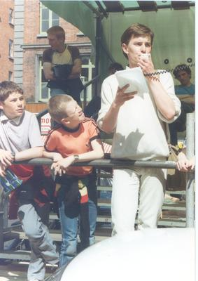 Tonie Walsh speaking at Gay Pride in 1983