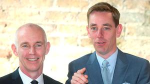 Ray D'Arcy and Ryan Tubridy. Picture: Damien Eagers