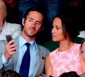 Pippa Middleton and James Matthews, as pictures of the Duchess of Cambridge and her children, Prince George and Princess Charlotte, are reportedly among 3,000 images stolen from Miss Middleton by computer hackers