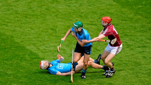 Michael Carton, Dublin, in action against Cathal Mannion, Galway ( Daire Brennan / SPORTSFILE)