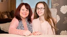 Megan Ryan from Dooradoyle, Co Limerick, and her mum Sharon. Photo: Liam BurkePress 22