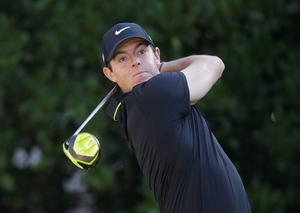 Rory McIlroy, of Northern Ireland, hits from the 10th tee during the first round of The Players Championship golf tournament Thursday, May 7, in Ponte Vedra Beach (AP Photo/John Raoux)