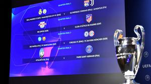 Nyon, Switzerland - July 10, 2020  General view of the Champions League Quarter Final draw  UEFA Pool/Handout via REUTERS