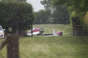 The scene of the light aircraft crash in Belan, Co Kildare