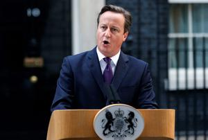 British PM David Cameron vows there is 'no going back'. Photo credit: REUTERS/Suzanne Plunkett