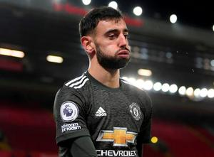 'Bruno Fernandes has been exceptional since arriving from Sporting Lisbon at the end of last January, but the flipside of his 19 goals and 14 assists in 32 Premier League starts is that if he isn't firing, United often aren't creating.' Photo: PA
