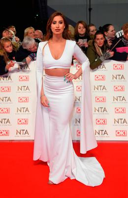 Ferne McCann attend the National Television Awards on January 25, 2017 in London, United Kingdom.  (Photo by Anthony Harvey/Getty Images)