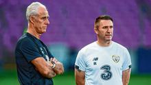 Green and Keane: Robbie Keane gained experience as Mick McCarthy's assistant but must step up a level if he ever wishes to manage Ireland. Photo: Stephen McCarthy/Sportsfile