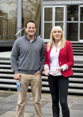 Minister for Health Leo Varadkar leaving RTE Radio studios this morning after his interview with Miriam O'Callaghan  Pic: El Keegan