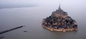 WHEN THE TIDE COMES IN: The scene at the world-famous UNESCO site of Mont Saint-Michel