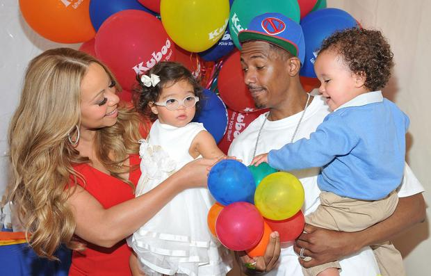 Mariah Carey and Nick Cannon with twins Morocco and Monroe