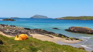 Camping on the coast at Derrynane, co. Kerry