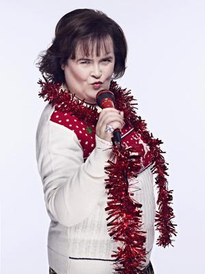 Susan Boyle who is supporting Save the Children's 2013 Christmas Jumper Day campaign, on Friday December 13