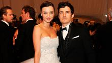 """Model Miranda Kerr and actor Orlando Bloom attend the """"Alexander McQueen: Savage Beauty"""" Costume Institute Gala at The Metropolitan Museum of Art on May 2, 2011 in New York City. (Photo by Larry Busacca/Getty Images North America)"""