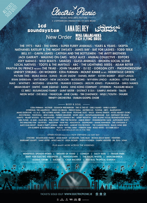 The line-up for Electric Picnic 2016