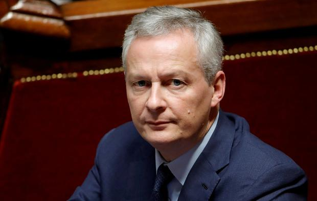 French Finance Minister Bruno Le Maire. Photo: Reuters