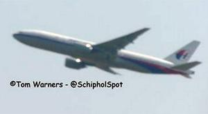 A picture taken of Malaysia MH17 as it took off from Schipol Airport shortly before it was shot down over Ukraine