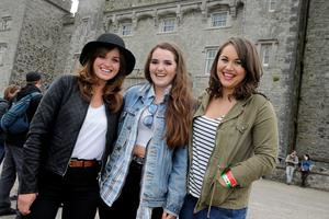 Emma and Lucy Mullen Reynolds with Katie Kierans, Drogheda pictured at Slane Castle in Co Meath. Picture: Arthur Carron