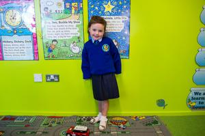 Wedenesday 10 September 2014. Tallaght: One of Scoil Aoife's two students, Ella Gilsenan (4).