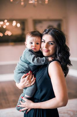 Sile Seoige with baby son Cathal. Picture: Lili Forberg/VIP Magazine