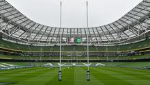 A general view of the Aviva Stadium ahead of the game