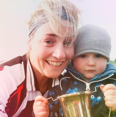 Michelle Herbert and her two-year-old son Conor after Newcastle West's camogie victory over Patrickswell in May last year. Photo: Press 22