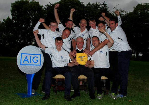 Athenry win the AIG Connacht Jimmy Bruen Shield Pennant. Photo: Golffile/Thos Caffrey
