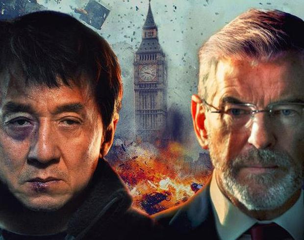 Jackie Chan and Pierce Brosnan in the poster for The Foreigner