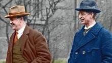 Former colleagues: Michael Collins and Éamon de Valera ended up on opposite sides of the civil war that cemented the politics that led to the hegemony of Fine Gael and Fianna Fáil in Irish life. Photo: NLI
