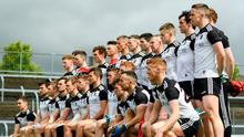 Sligo players pose for their team photo prior to the Connacht SFC semi-final against Galway at Markievicz Park in May 2019. Photo: Sportsfile