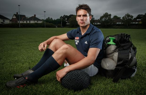 Joey Carbery at the launch of Avonmore's Protein Milk Blueberry flavour