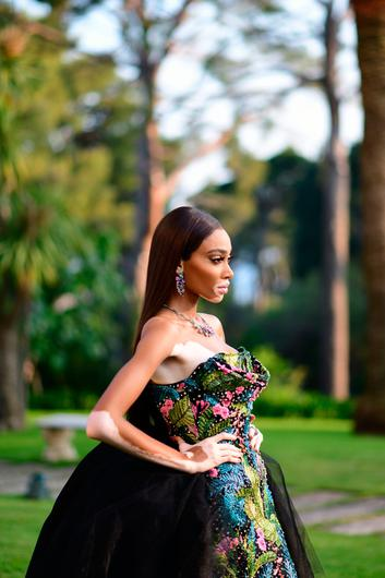 Winnie Harlow attends the amfAR Cannes Gala 2019 at Hotel du Cap-Eden-Roc on May 23, 2019 in Cap d'Antibes, France. (Photo by Anthony Ghnassia/Getty Images for Pernod Ricard / amfAR)
