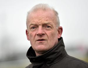 Pleasant Company will be out to give Willie Mullins (pictured) and Ruby Walsh another feature race success today at Fairyhouse