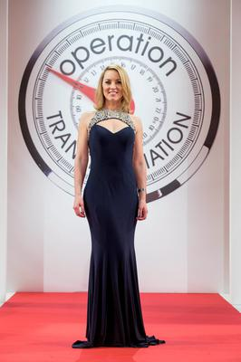 Presenter Kathryn Thomas pictured at the Operation Transformation catwalk finale.