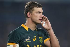 Handre Pollard will earn just his seventh Springbok cap on Saturday against Johnny Sexton, the man who helped steer the Lions to Test success in 2013. Photo credit: David Rogers/Getty Images