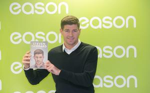 03/12/2015:Liverpool legend, Steven Gerrard during a book signing  of his autobiography, 'My Story' at Eason's Bookstore, Dublin. Photo: Gareth Chaney Collins