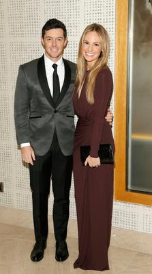 Rory McIlroy and Erica Stoll at the Excellence in Sports awards. Picture: Kieran Harnett