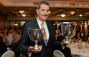 Ireland retained their European senior men's team championship in Poland at the weekend when they overcame top seeds Sweden 3.5-1.5 over the Sierra course, led by Portmarnock's former European Adrian Marrow, pictured here in attendance at the GUI Champions' Dinner 2013, Carton House, Co. Kildare (Matt Browne / SPORTSFILE)