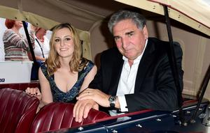 Laura Carmichael and Jim Carter attending an exclusive charity screening of Downton Abbey at the Empire cinema in London. Photo Ian West/PA Wire