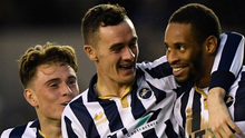 Millwall's Shaun Williams (centre). Photo: Reuters