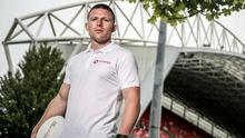 High spirits: Munster's Andrew Conway says senior coach Stephen Larkham is challenging the squad to improve. Photo: INPHO
