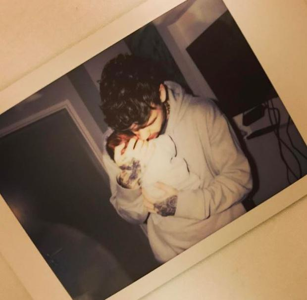 Liam Payne posted this image of his new son online shortly after the birth of his son with Cheryl