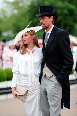 Abbey Clancy and husband Peter Crouch on day three, Ladies Day, of Royal Ascot at Ascot Racecourse on June 20, 2019 in Ascot, England. (Photo by Chris Jackson/Getty Images)